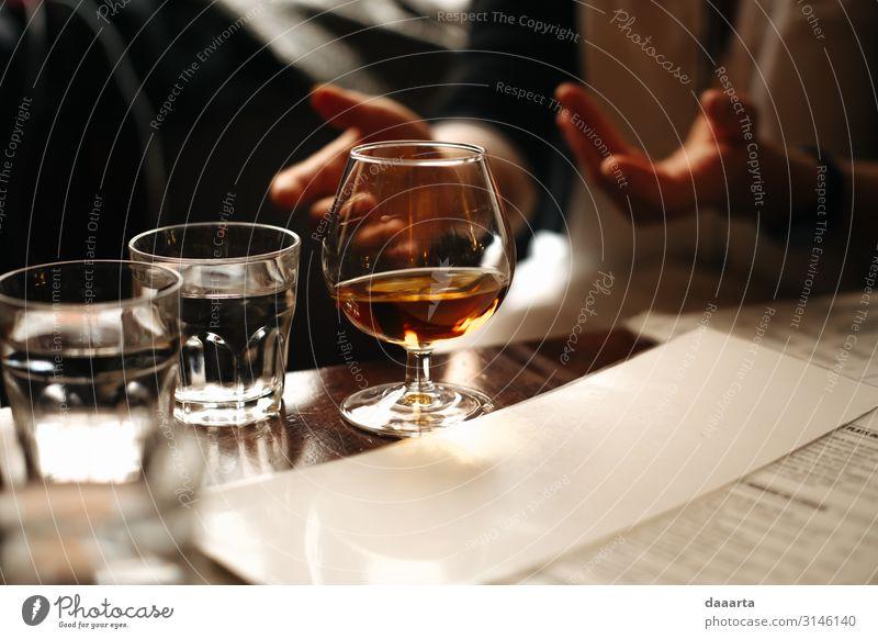 social evening Beverage Cold drink Alcoholic drinks Spirits Whiskey Water Cognac Brandy Lifestyle Elegant Style Joy Harmonious Adventure Freedom
