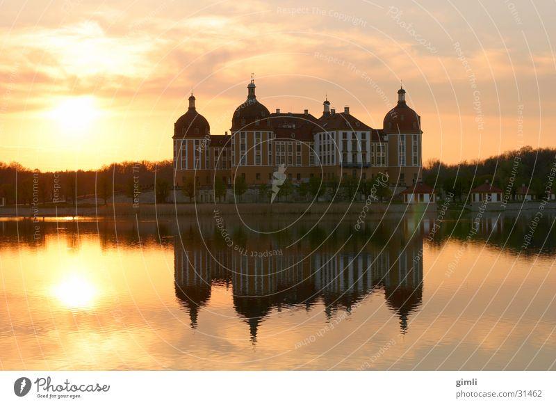 Lake Architecture Dresden Castle Dusk Moritzburg Moritzburg castle