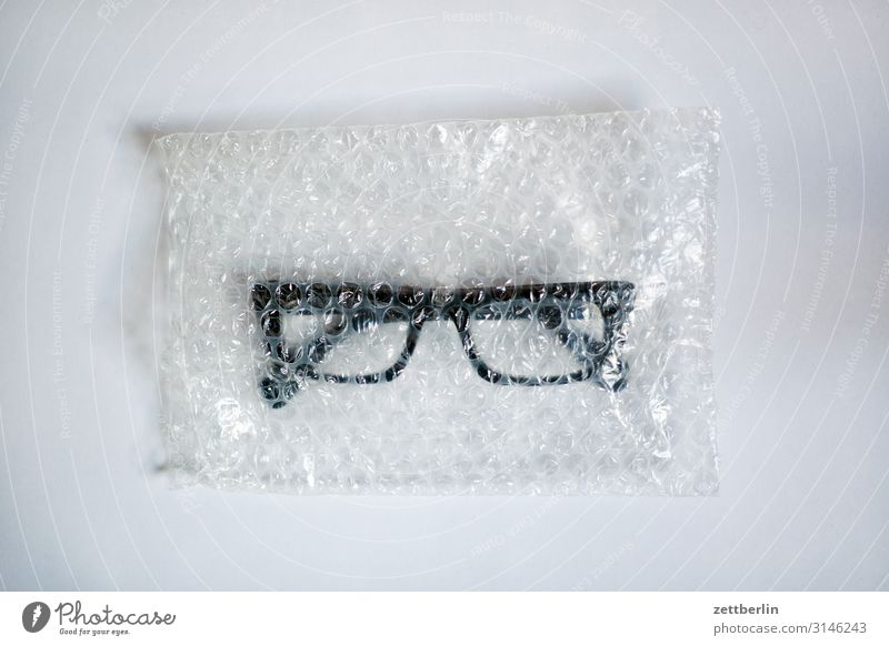 glasses Eyeglasses Optician Opthalmology Healthy Vista Looking Paper bag Plastic bag Packaging Delivery Sell Copy Space Deserted