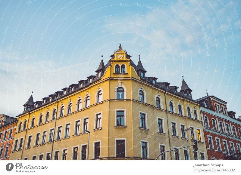 House facade in Chemnitz Calm Living or residing Flat (apartment) House building Moving (to change residence) Autumn Town Downtown Skyline Populated