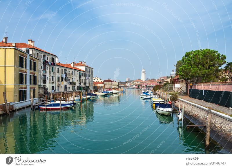 Historical buildings in the old town of Venice in Italy Relaxation Vacation & Travel Tourism House (Residential Structure) Water Clouds Tree Town Old town Tower