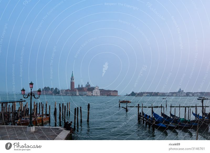 View to the island San Giorgio Maggiore in Venice, Italy Relaxation Vacation & Travel Tourism Island House (Residential Structure) Water Clouds Town Tower