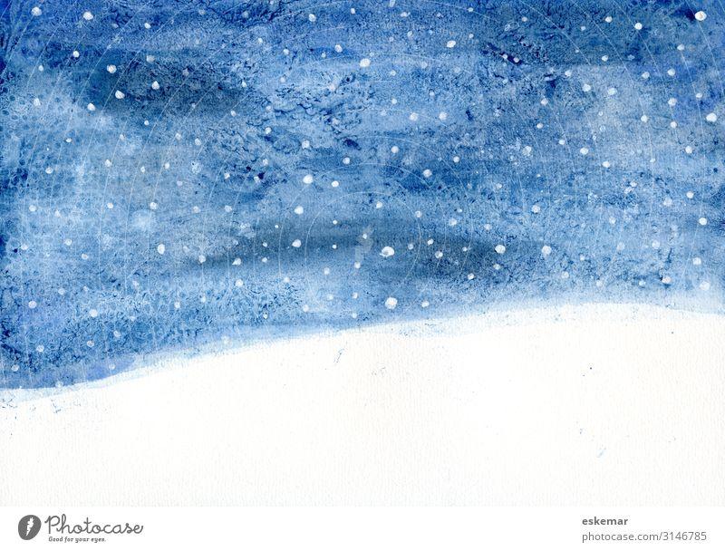 Sky Nature Christmas & Advent Blue Beautiful White Landscape Winter Environment Cold Snow Art Snowfall Horizon Esthetic Stars