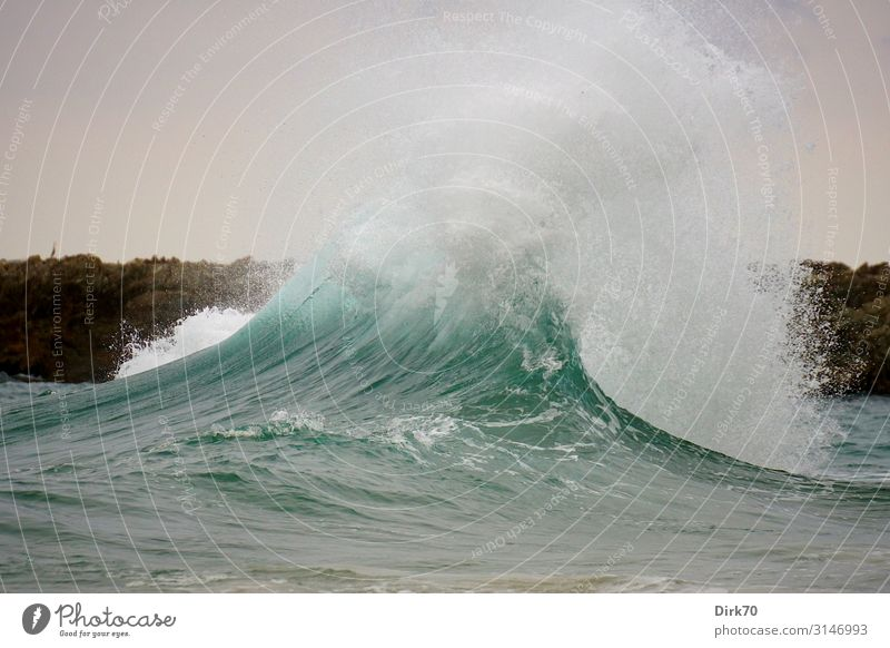 surf wave ... Vacation & Travel Tourism Environment Nature Summer Bad weather Wind Gale Waves Coast Ocean Atlantic Ocean Biscay Surf White crest Rocky coastline
