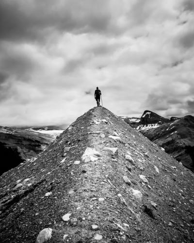 The wanderer... Leisure and hobbies Vacation & Travel Tourism Adventure Freedom Mountain Hiking Human being Masculine 1 Clouds Hill Alps Yoho National Park Peak