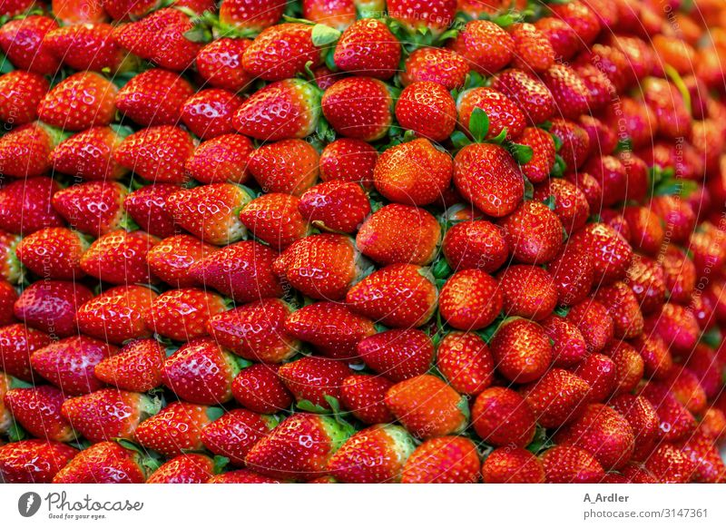 ripe strawberries in stack full Food Strawberry Nutrition Buffet Brunch Banquet Business lunch Organic produce Vegetarian diet Diet Slow food Finger food