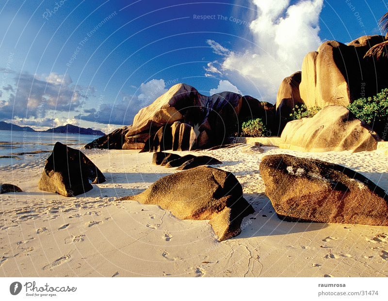 Beach Seychelles Idyllic beach Rock formation