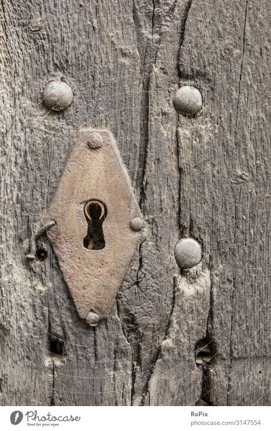 Keyhole in an old door. Lifestyle Style Design Tourism Sightseeing Education Work and employment Profession Workplace Construction site Factory Economy