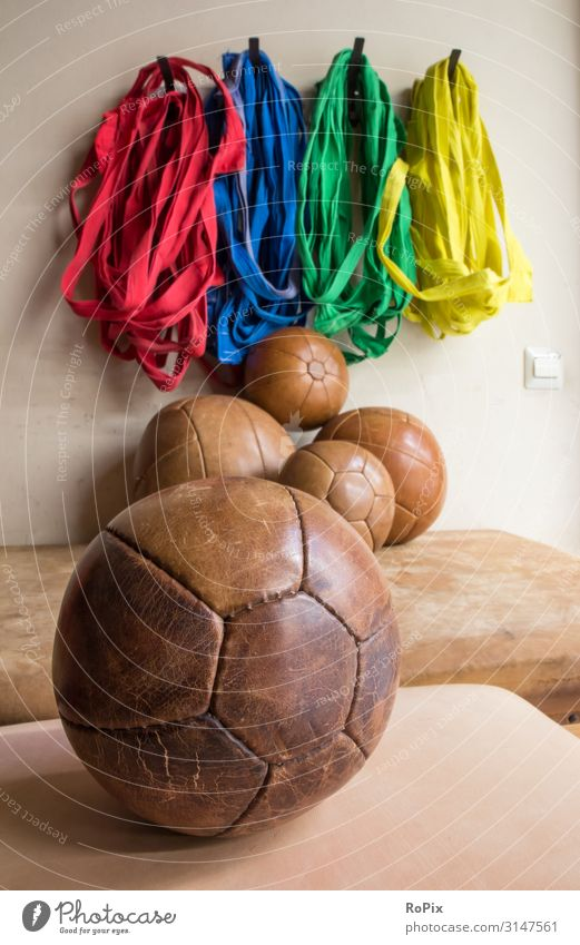 Medicine balls in a gym. Lifestyle Style Design Healthy Health care Athletic Fitness Wellness Relaxation Leisure and hobbies Sports Sports Training Ball sports