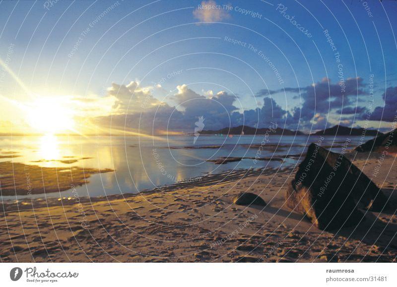 sunset beach Seychelles Beach Sunset Vacation & Travel