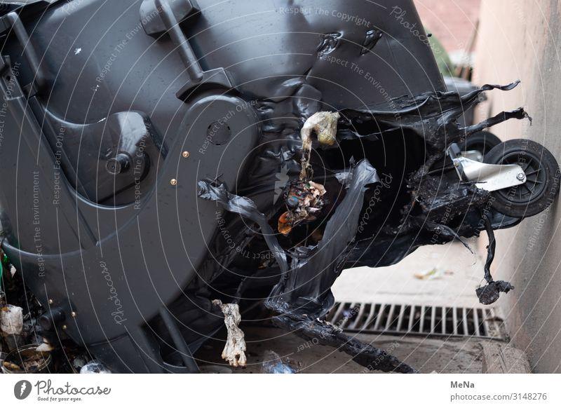 Environment Broken Climate Blaze Trash Trashy Environmental pollution Container Aggravation Trash container Damage
