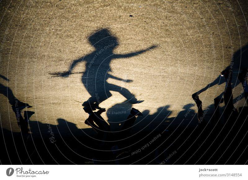 favorite Human being Summer Joy Life Warmth Sports Emotions Movement Group Moody Gold Walking Fantastic Asphalt Under Positive
