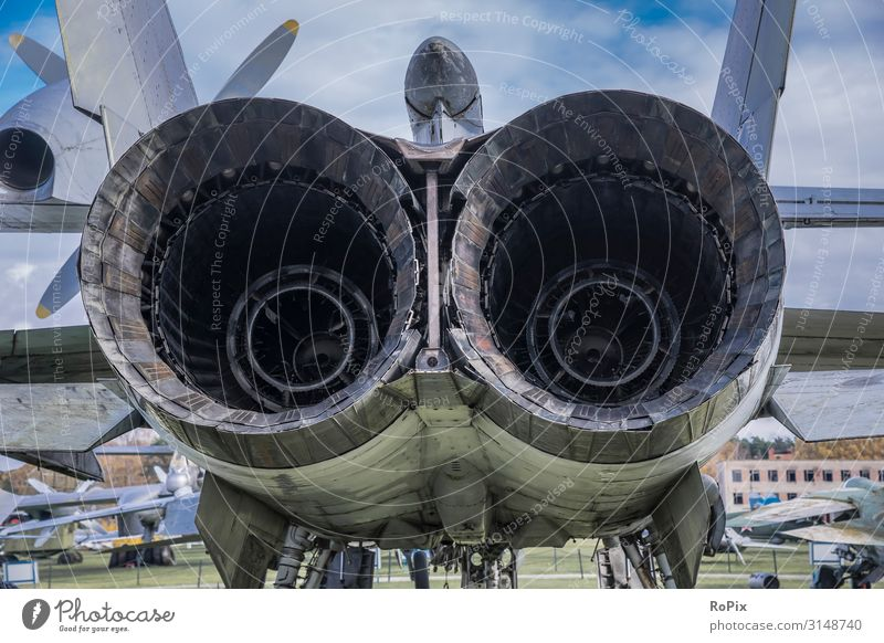 Rear of a jet engine of a war aircraft. Design Model-making Vacation & Travel Tourism Sightseeing City trip Education Science & Research Work and employment