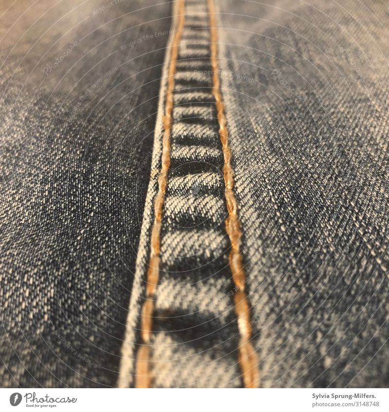 Seamless Jeans Line Simple Hip & trendy Blue Loyal Together Loyalty Dependability Conscientiously Patient Calm Endurance Orderliness Boredom Longing Beginning