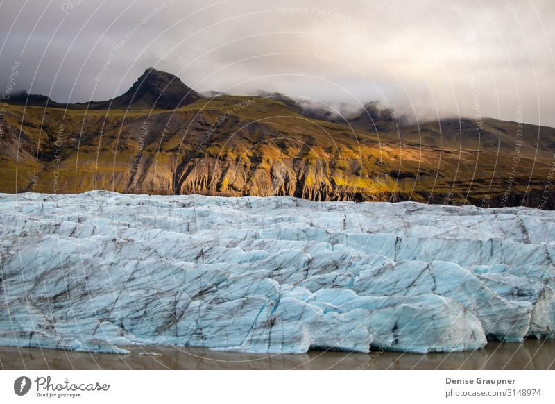 Glacier in Iceland is illuminated by sun Expedition Winter Frost Looking Hiking northern Arctic Aurora Canada borealis Alaska snow greenland lapland