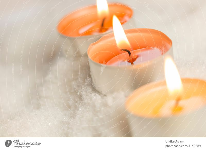Christmas & Advent Relaxation Calm Winter Religion and faith Snow Emotions Orange Contentment Decoration Illuminate Birthday Candle Wellness Card Well-being