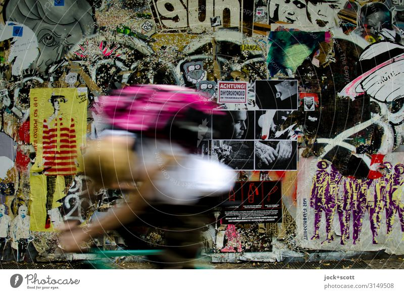 Picture Life Joy Graffiti Wall (building) Lanes & trails Emotions Art Wall (barrier) Exceptional Moody Characters Creativity Cycling Speed Cool (slang) Many