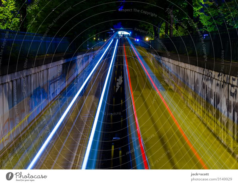Bar & Tempo Ramp Rail transport Underground Train station Railroad tracks Highway ramp (exit) Highway ramp (entrance) Strip of light Driving Long Speed Mobility