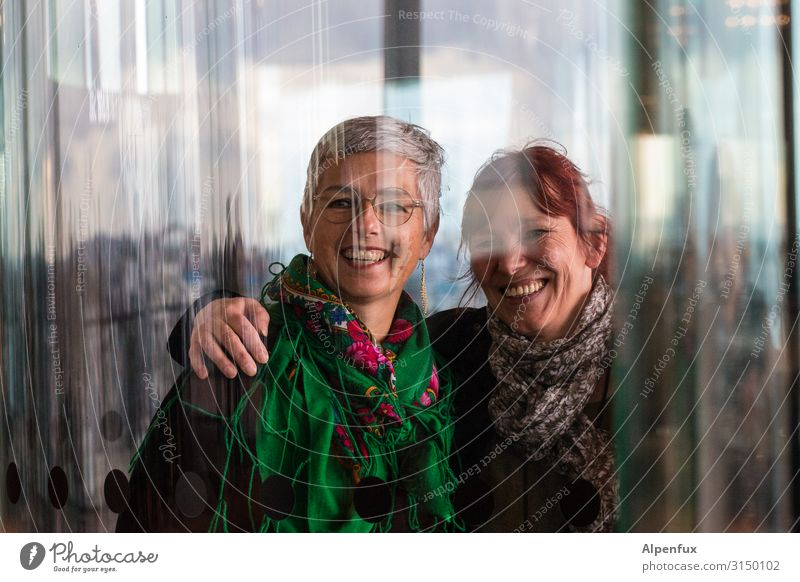 Girlfriends | UT HH19 Human being Feminine Woman Adults 2 45 - 60 years Friendliness Happiness Happy Emotions Joy Contentment Joie de vivre (Vitality)
