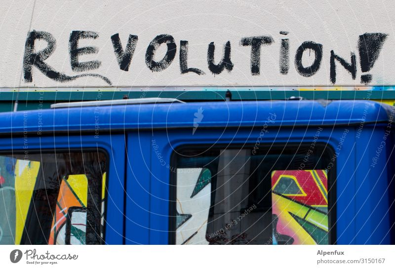 Viva la.... | UT HH19 Art Work of art Graffiti Adventure Beginning Movement Chaos Apocalyptic sentiment Resolve Peace Inspiration War Crisis Politics and state