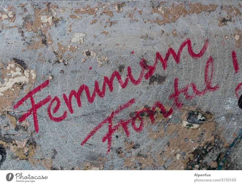 Feminism Frontal ! UT HH19 Characters Graffiti Power Willpower Brave Determination Fairness Effort Aggravation Contentment Resolve Equal Competent
