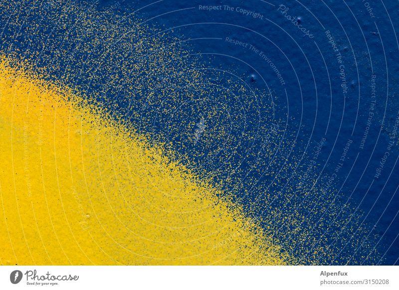 Blue Sun Graffiti Yellow Dye Cold Art Happiness Play of colours