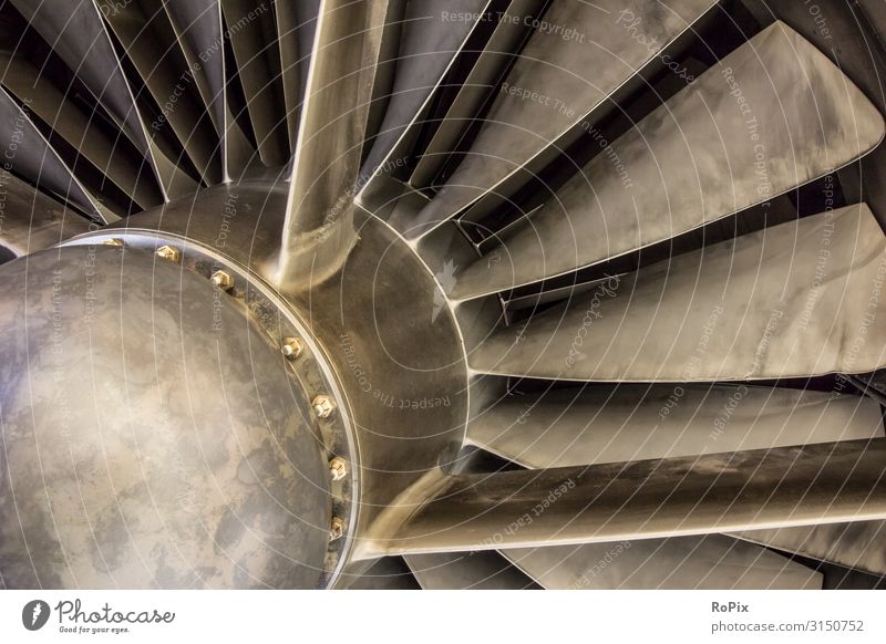 Jet engine propeller of a Concorde airliner. Lifestyle Design Leisure and hobbies Vacation & Travel Tourism Education Science & Research Work and employment