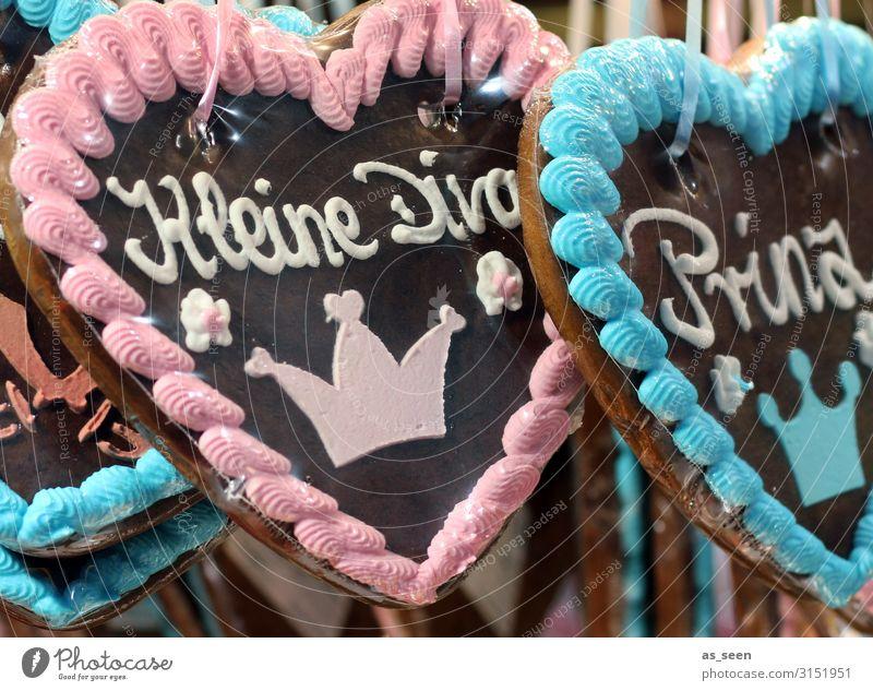 Diva & Prince Dough Baked goods Candy Gingerbread heart Icing Night life Feasts & Celebrations Oktoberfest Fairs & Carnivals Christmas Fair Heart Hang Kitsch