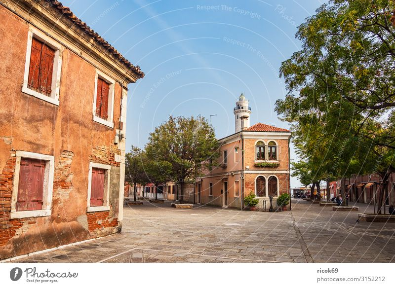Historical buildings on the island of Murano near Venice in Italy Relaxation Vacation & Travel Tourism Island House (Residential Structure) Clouds Tree Town