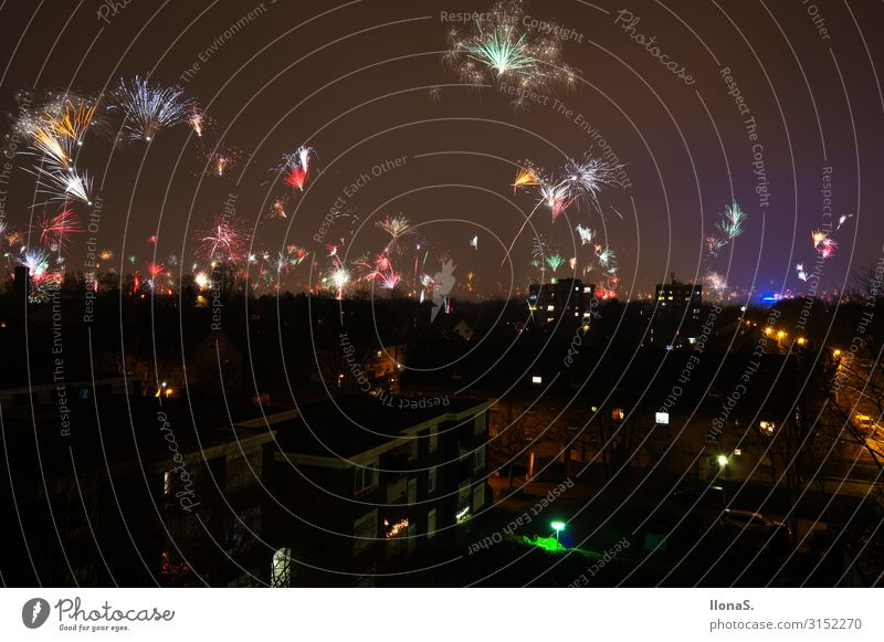 Cheers New Year Night life Entertainment Party Event Music Feasts & Celebrations New Year's Eve Landscape Sky Night sky Horizon Manmade structures Building