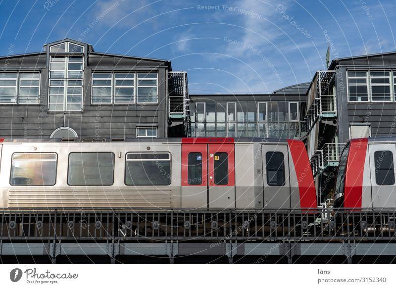 Town City life Hamburg Underground Public transit Mono rail