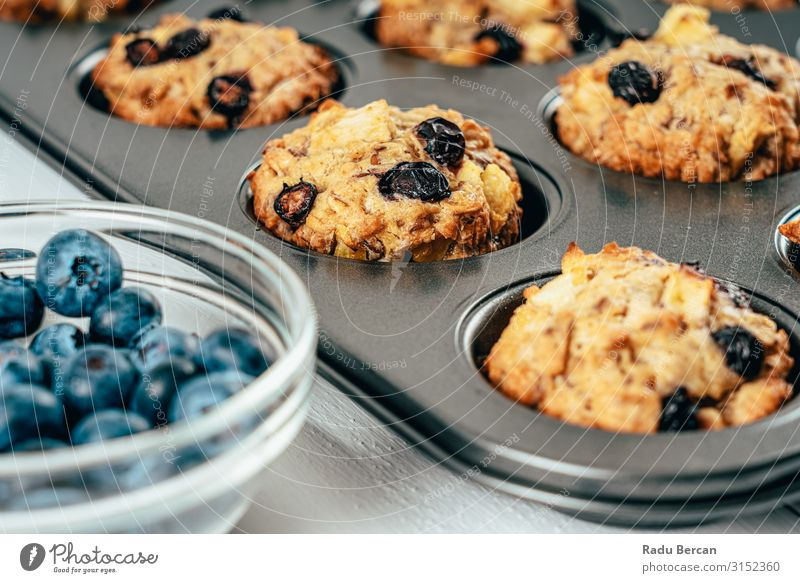 Blueberry And Apple Fruity Cupcakes Muffins recipe Fresh Dessert Home-made Snack Cake Bakery Close-up Background picture Dog food Gourmet Berries Natural