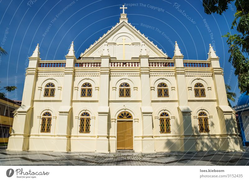 Santa Cruz Cathedral Basilica in Kochi, Kerala, India Style Vacation & Travel Tourism Far-off places Sightseeing Architecture Church Facade Religion and faith