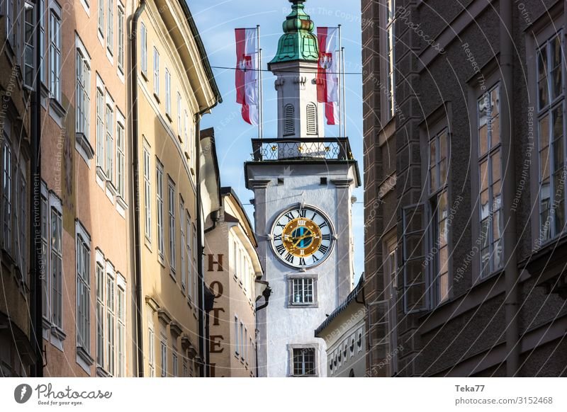 Salzburg #2 Austria Village Small Town Downtown Old town Skyline Esthetic Colour photo Exterior shot Morning Dawn