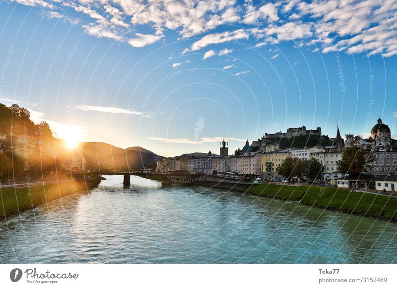 Salzburg #1 Austria Village Small Town Capital city Downtown Outskirts Old town Skyline Esthetic Colour photo Exterior shot Dawn