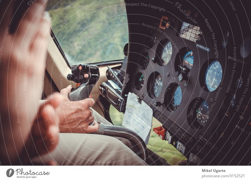 Pilot hand driving a helicopter above Kauai, US Lifestyle Beautiful Vacation & Travel Tourism Trip Adventure Far-off places Freedom Expedition Island Mountain