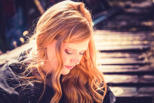Beautiful red hair Human being Youth (Young adults) Young woman Red Joy Face Lifestyle Autumn Feminine Hair and hairstyles Moody 13 - 18 years Dream Elegant