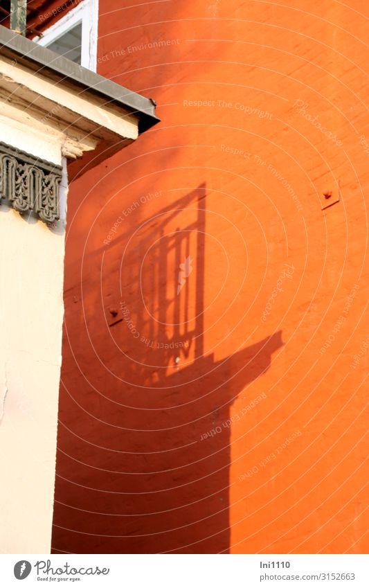 White House (Residential Structure) Black Building Orange Facade Gray Hamburg Balcony Evening sun Elbstrand