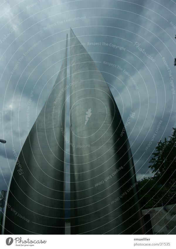 Nature Dark Rain Art Modern Obscure Monument Thunder and lightning Aluminium