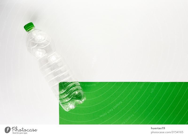 Plastic bottles to recycle. Knolling concept Green White Environment Industry Beverage Trash Environmental protection Bottle Horizontal Environmental pollution