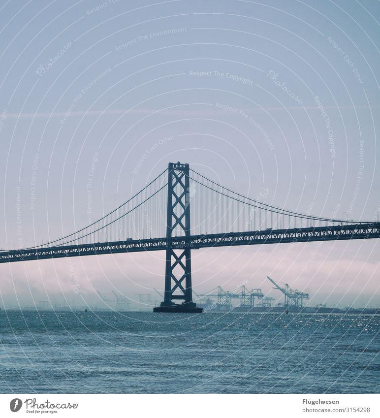 bridge San Francisco San Francisco bay Americas USA pile-lander Bridge pier Bridge construction Bridge building bridging day Bridges Building bridges