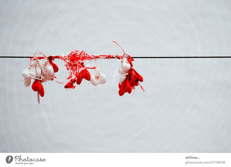White Red Feasts & Celebrations Heart Transience Wedding Balloon Hang Valentine's Day Paper streamers