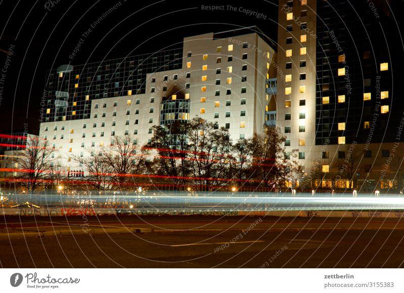 Hotel in Neukölln Evening Berlin Movement Multicoloured Dark Dynamics Fantasy Glittering Capital city Light Visual spectacle Light writing Light painting