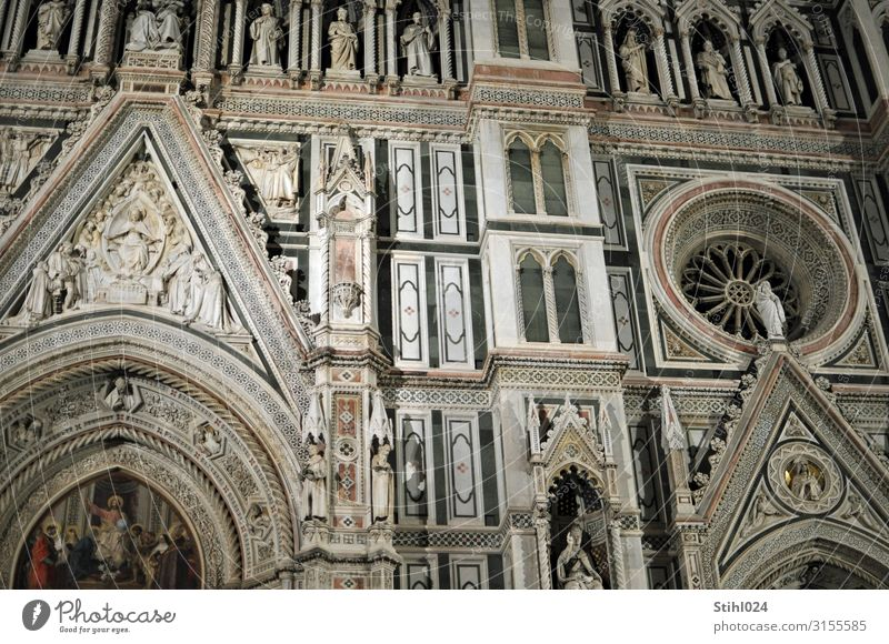 Cathedral Santa Maria del Fiore II Vacation & Travel Sightseeing City trip Work of art Sculpture Architecture Florence Italy Town Church Dome Facade Rosette