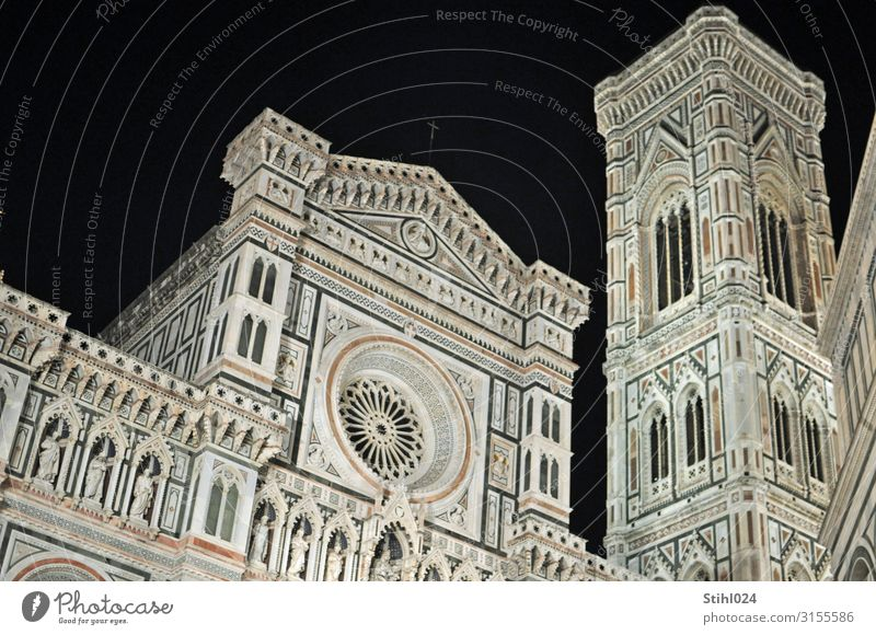 Cathedral Santa Maria del Fiore in Florence Tourism Sightseeing City trip Architecture Italy Town Old town Deserted Dome Places Church spire Tourist Attraction