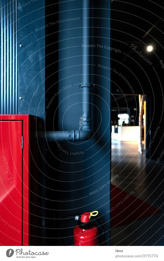 Red Black Wall (building) Wall (barrier) Line Technology Hamburg Safety Trust Pipe Extinguisher Warning colour Fuse-box