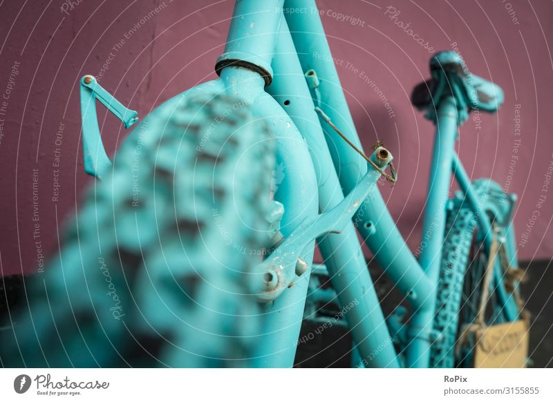 Abstract view of an old bike. Lifestyle Design Athletic Leisure and hobbies Vacation & Travel Sightseeing City trip Decoration Sports Fitness Sports Training