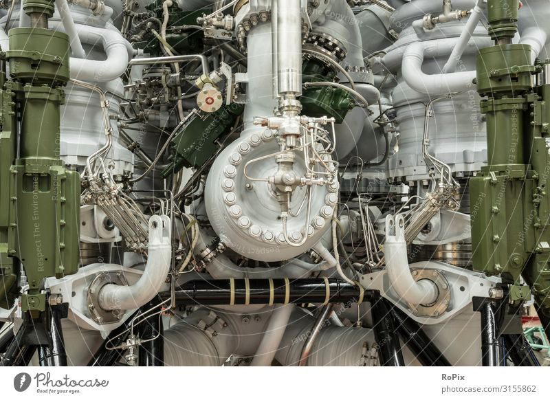 Detail of a rocket engine. Lifestyle Design Leisure and hobbies Model-making Vacation & Travel Tourism Sightseeing Education Science & Research