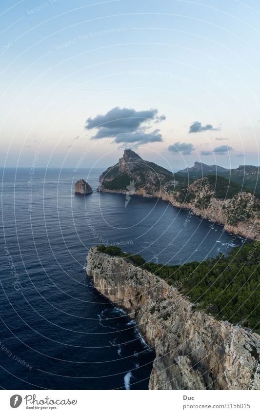 Cap de Formentor Aquatics Climbing Mountaineering Hiking Environment Nature Landscape Water Sky Sunrise Sunset Climate Rock Waves Coast Island Cap Formentor