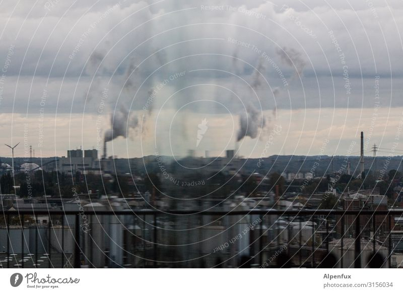 Hamburg harbour prism | UT HH19 Port City Industrial plant Factory Chimney Business Apocalyptic sentiment Society Climate Competition Sustainability